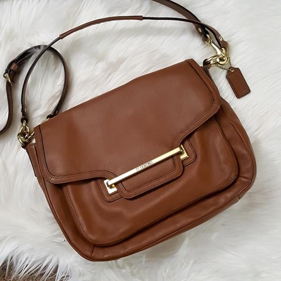 2201cc27543 Coach Bags   Cognac Leather Crossbody Shoulder Bag   Poshmark